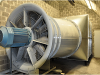 Axial fans for comfort ventilation in railway stations (Spain)